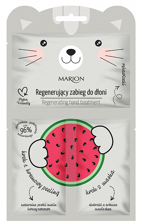 "Regenerating Hand Treatment ""Watermelon"" - Marion Funny Animals Regenerating Hand Treatment"