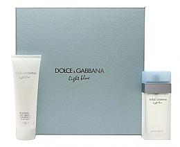 Fragrances, Perfumes, Cosmetics Dolce & Gabbana Light Blue - Set (edt/100ml + b/cr/100ml)