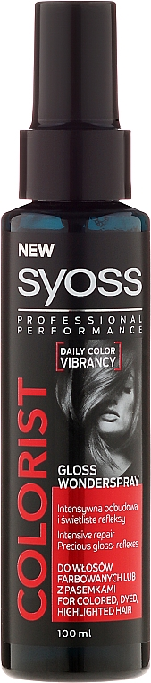 Colored Hair Spray - Syoss Colorist Gloss Wonderspray Hair Spray