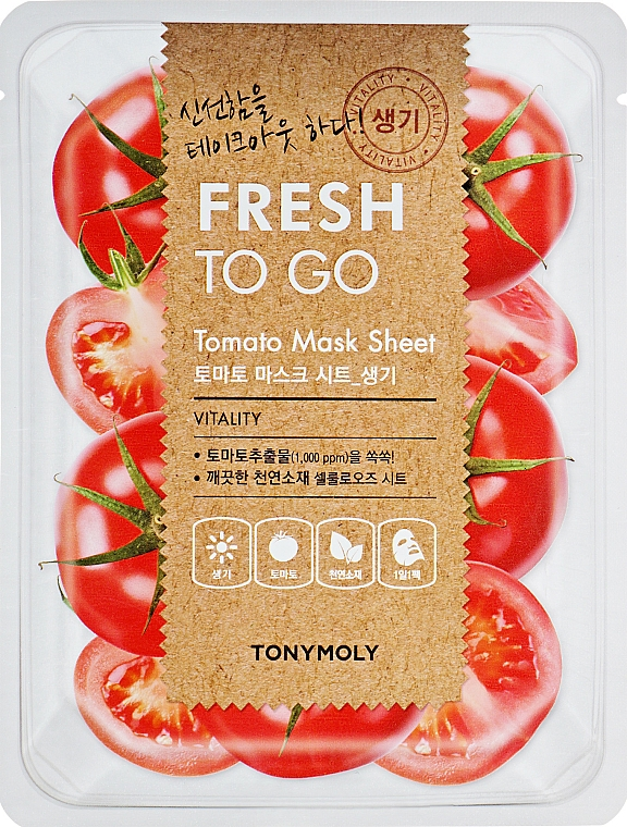 Refreshing Tomato Sheet Mask - Tony Moly Fresh To Go Mask Sheet Tomato