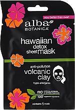 Fragrances, Perfumes, Cosmetics Face Black Sheet Mask - Alba Botanica Hawaiian Detox Sheet Mask Anti-pollution Volcanic Clay
