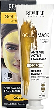 Fragrances, Perfumes, Cosmetics Anti-Aging Active Face Mask - Revuele Anti-Age Gold Lifting Effect Mask