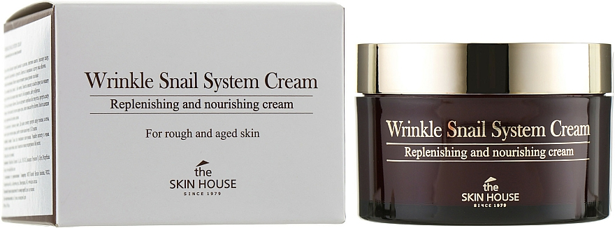 Anti-Aging Snail Cream - The Skin House Wrinkle Snail System Cream