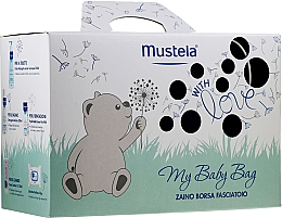 Fragrances, Perfumes, Cosmetics Set - Mustela My Baby Bag Set (water/300ml + gel/shm/200ml + f/cr/40ml + b/cr/50ml + wipes/25pcs + bag)