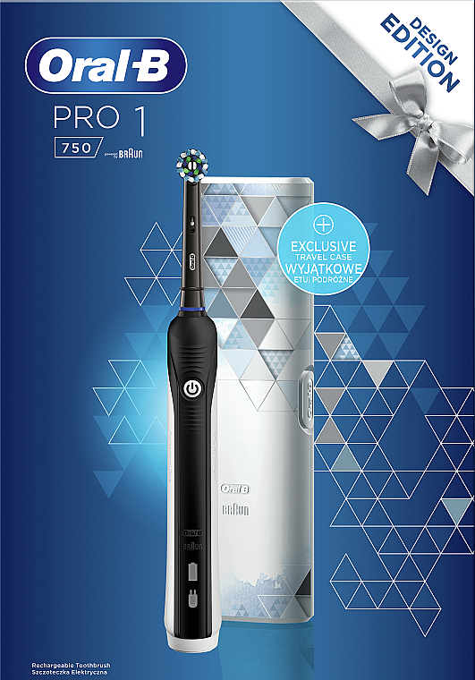 Oral B Pro 750 Cross Action Black Electric Tooth Brush Makeup Uk