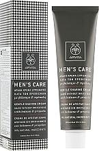 Fragrances, Perfumes, Cosmetics Delicate Shaving Cream with St. John's Wort and Propolis - Apivita Men Men's Care Gentle Shaving Cream With Hypericum & Propolis