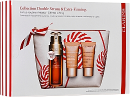 Fragrances, Perfumes, Cosmetics Set - Clarins Double Serum & Extra-Firming Set (serum/30ml + cr/15ml + cr/15ml + bag)