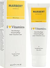 Fragrances, Perfumes, Cosmetics Cream for Dry Skin - Marbert I Love Vitamins Rich Vitamin Care