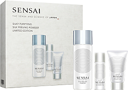 Fragrances, Perfumes, Cosmetics Set - Sensai Silky Purifying Silk Peeling Powder Limited Edition (scrub/40ml + oil/30ml + soap/30ml)