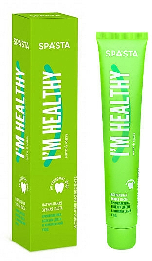 """Natural Toothpaste """"Prevention of Gum Disease and Complex Care"""" - Spasta I Am Healthy Toothpaste"""