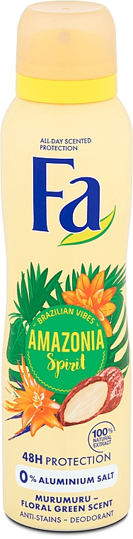 "Deodorant Spray ""Rhythms of Brazil"" - Fa Amazonia Spirit Deo Spray"