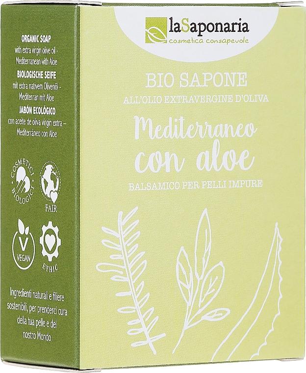 Aloe Vera and Olive Oil Soap - La Saponaria Aloe Soap