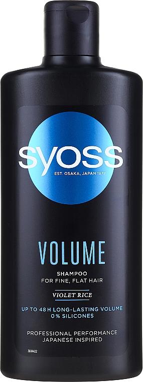 Shampoo for Fine & Flat Hair - Syoss Volume Violet Rice Shampoo