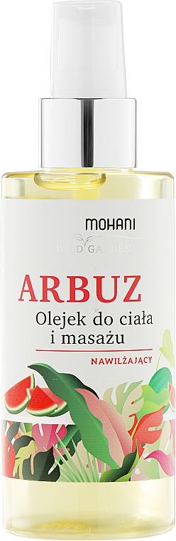 """Moisturizing Massage & Body Oil """"Watermelon"""" - Mohani Wild Garden Oil"""