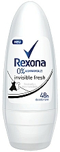 Fragrances, Perfumes, Cosmetics Roll-on Antiperspirant - Rexona Invisible Fresh Roll-On