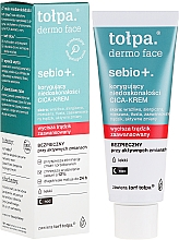 Fragrances, Perfumes, Cosmetics Anti-Imperfections Night Cream - Tolpa Sebio+ Cica-Cream