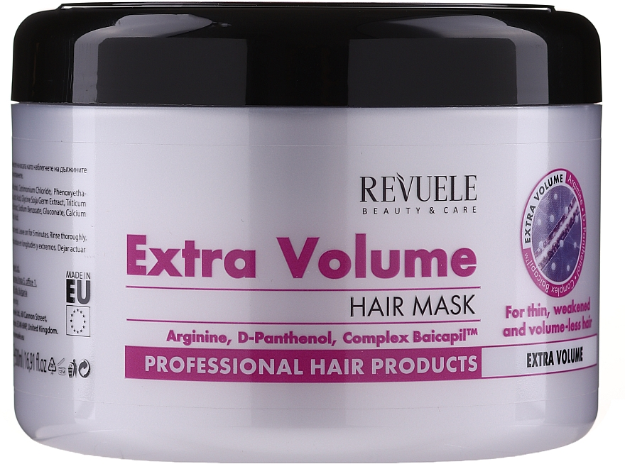 """Hair Mask """"Extra Volume"""" - Revuele Professional Hair Products Extra Volume Hair Mask"""