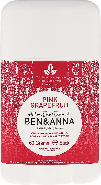 """Soda Deodorant """"Pink Grapefruit"""" (plastic) - Ben & Anna Natural Soda Deodorant Pink Grapefruit"""