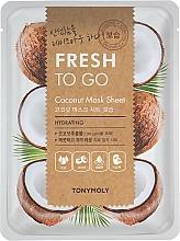 Fragrances, Perfumes, Cosmetics Cocoa Butter Sheet Mask - Tony Moly Fresh To Go Coconut Mask Sheet Hydrating