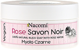Fragrances, Perfumes, Cosmetics Black Soap with Rose Water - Nacomi Savon Noir Natural Black Soap with Rode Water