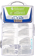 Fragrances, Perfumes, Cosmetics Nail Tips, d/k - Silcare Tipsy Exellent Clear
