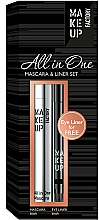 Fragrances, Perfumes, Cosmetics Set - Make up Factory All in One Mascara & Liner Set (mascara/9ml + liner/0.31g)