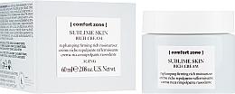Fragrances, Perfumes, Cosmetics Nourishing Face Cream - Comfort Zone Sublime Skin Rich Cream