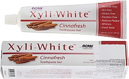 Fragrances, Perfumes, Cosmetics Toothpaste Gel with Cinnamon - Now Foods XyliWhite Toothpaste Gel