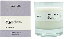 Fragrances, Perfumes, Cosmetics Scented Candle - Ambientair Lab Co. Amber & Clove