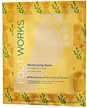 Fragrances, Perfumes, Cosmetics Moisturizing Foot Sock-Mask with Pineapple & Tea Tree - Avon Foot Works Mask For Legs