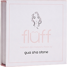 Fragrances, Perfumes, Cosmetics Massage Face Stone, pink - Fluff Gua Sha Stone
