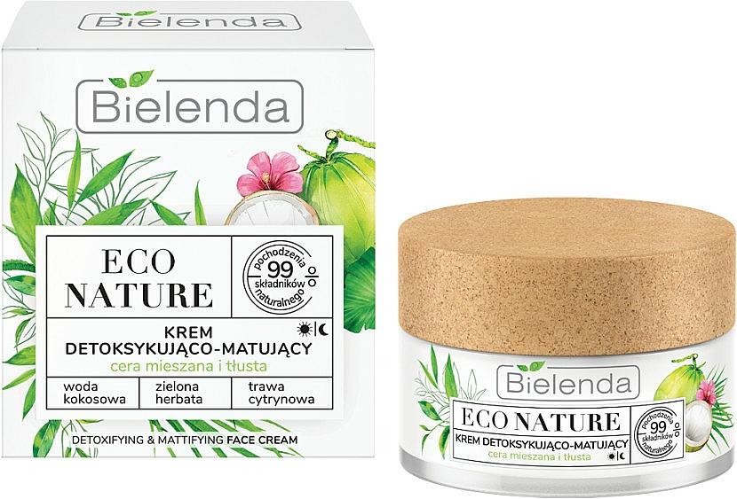 Face Cream - Bielenda Eco Nature Coconut Water Green Tea & Lemongrass Face Cream