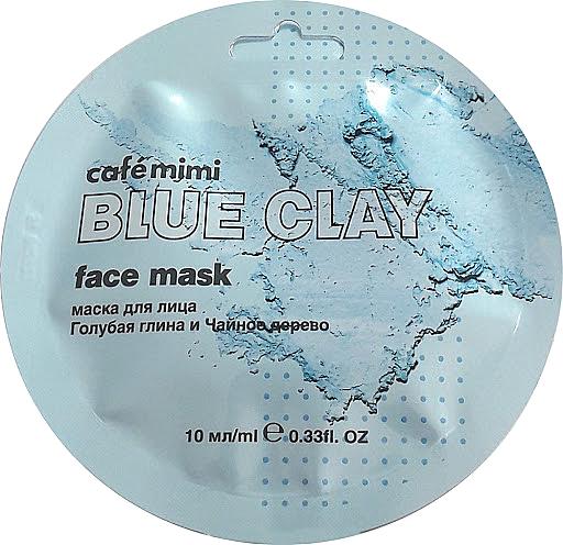 "Face Mask ""Blue Clay & Tea Tree"" - Cafe Mimi Blue Clay Face Mask"