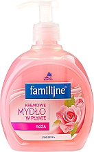 Fragrances, Perfumes, Cosmetics Liquid Soap - Pollena Savona Familijny Rose Creamy Liquid Soap