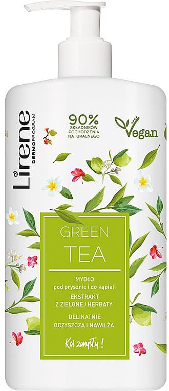 Gentle Green Tea Shower & Bath Soap - Lirene Gentle Shower And Bath Soap green Tea — photo N1