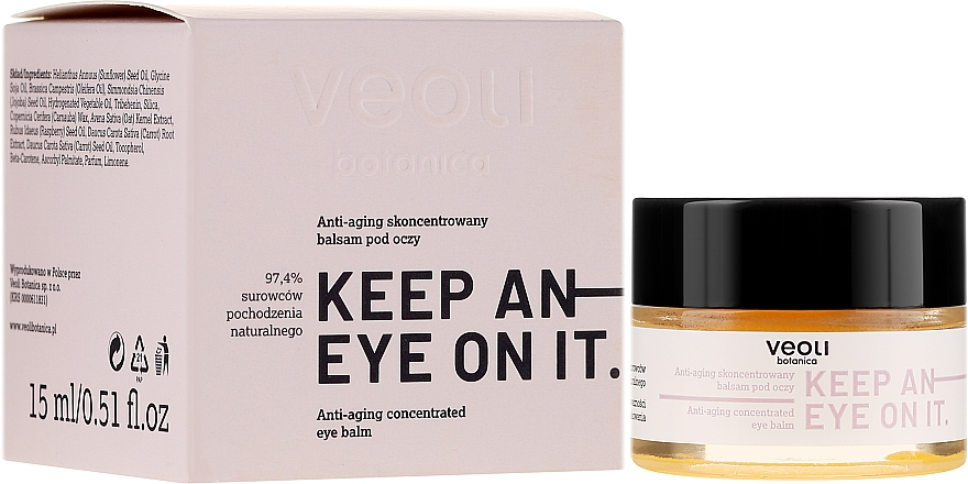 Anti-Aging Concentrated Eye Balm - Veoli Botanica Anti-aging Concentrated Eye Balm Keep An Eye On It