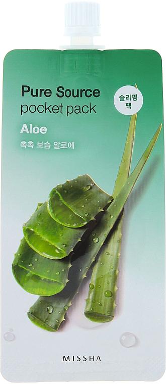 Aloe Vera Night Mask - Missha Pure Source Pocket Pack Aloe