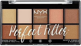 Fragrances, Perfumes, Cosmetics Eyeshadow Palette - NYX Professional Makeup Perfect Filter Shadow Palette