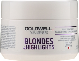 Fragrances, Perfumes, Cosmetics Blonde & Highlighted Hair Mask - Goldwell Dualsenses Blondes & Highlights 60sec Treatment