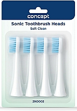 Fragrances, Perfumes, Cosmetics Replacement Toothbrush Heads, ZK0002 - Concept Sonic Toothbrush Heads Soft Clean