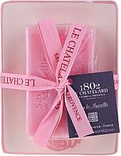Fragrances, Perfumes, Cosmetics Natural Soap with Ceramic Soap Dish - Le Chatelard Rose Soap