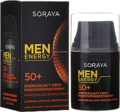 Fragrances, Perfumes, Cosmetics Anti-Wrinkle Cream 50+ - Soraya Men Energy