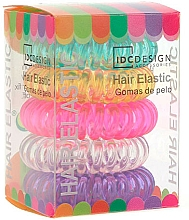 Fragrances, Perfumes, Cosmetics Multicolored Hair Ties Set, silicone, 5 pcs - IDC Institute Design Hair Bands Pack