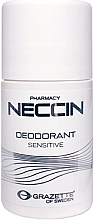 Fragrances, Perfumes, Cosmetics Roll-On Antiperspirant - Grazette Neccin Deodorant Sensitive