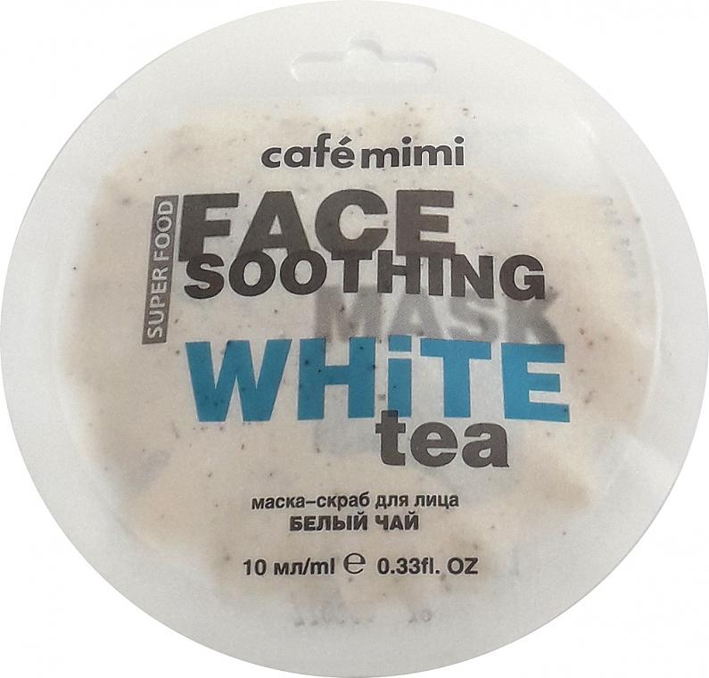 "Face Scrub Mask ""White Tea & Lotus"" - Cafe Mimi Face Mask"