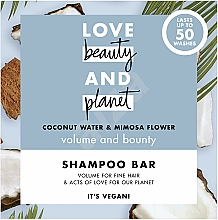 Fragrances, Perfumes, Cosmetics Volume Coconut & Mimosa Solid Shampoo - Love Beauty And Planet Coconut & Mimosa Shampoo