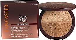 Fragrances, Perfumes, Cosmetics Bronzing Powder - Lancaster 365 Sun Protecting Bronzing Face Powder SPF10 Adjustable Glow