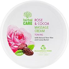 Fragrances, Perfumes, Cosmetics Toning Massage Cream - Bulgarian Rose Herbal Care Rose & Cococa Massage Cream