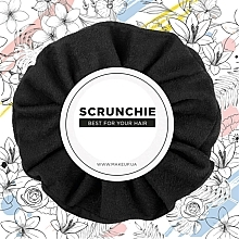 "Fragrances, Perfumes, Cosmetics Hair Scrunchie Eco-Suede, black ""Suede Classic"" - MakeUp Hair Accessories"
