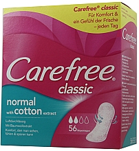 Fragrances, Perfumes, Cosmetics Daily Liners, 56 pcs - Carefree Classic Normal With Cotton Extract